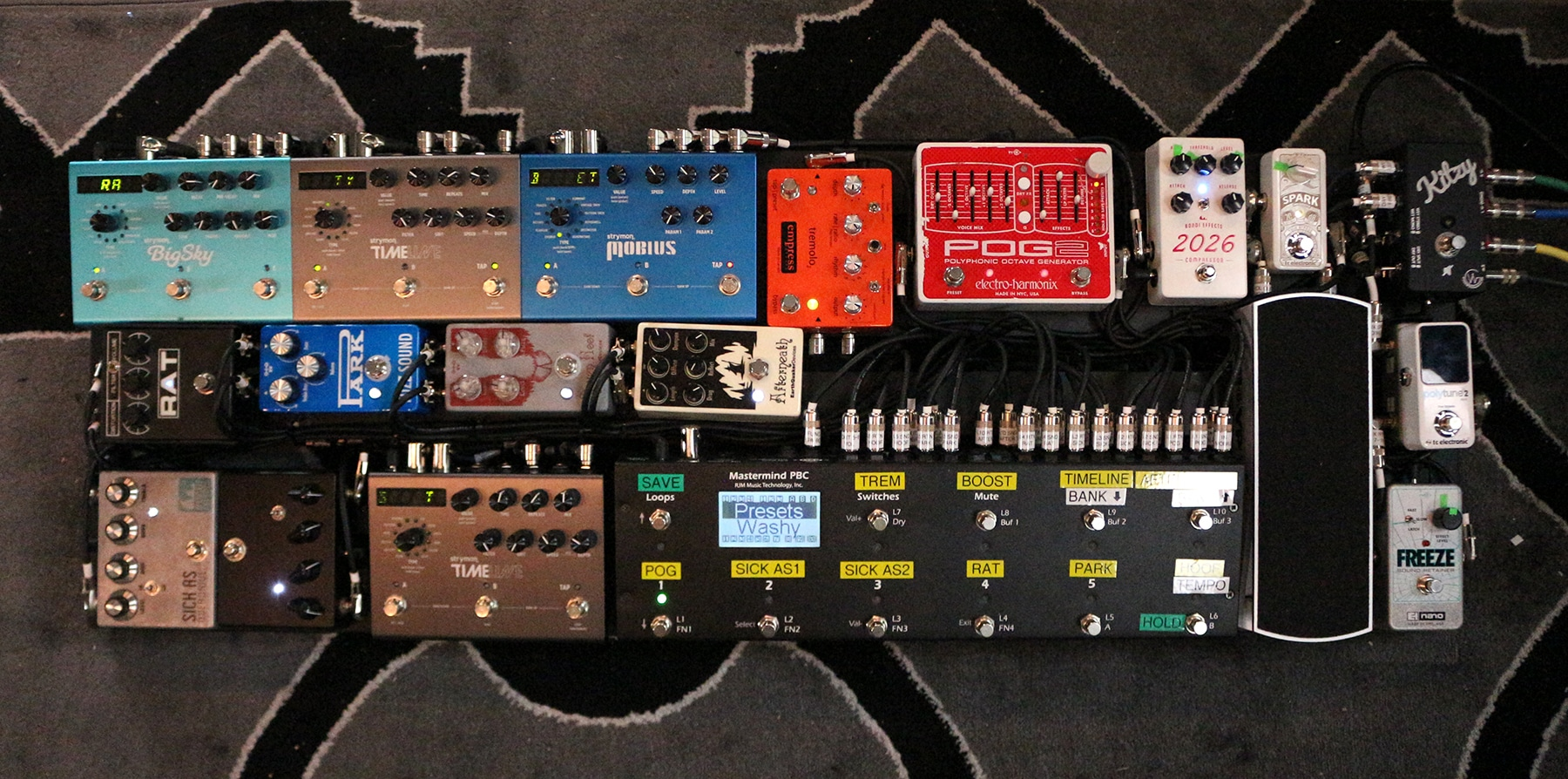 pedalboard feature kitzy strymon. Black Bedroom Furniture Sets. Home Design Ideas