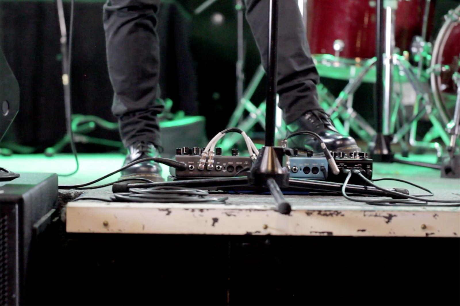 Strymon Iridium amp & IR cab on stage
